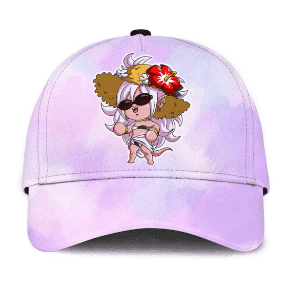 Dragon Ball Z Android 21 Chibi Cute Summer Watercolor Pink Dad Hat