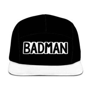 Dragon Ball Z Badman Awesome Black White Five Panel Cap