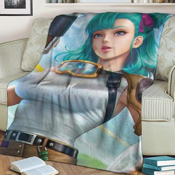 Dragon Ball Z Beautiful Bulma 3D Render Adorable Blanket