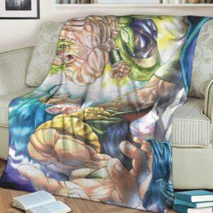 Dragon Ball Z Broly Gogeta Fantastic Cozy Blanket