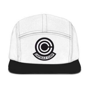 Dragon Ball Z Capsule Corp Logo White Black Camper Cap
