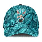 Dragon Ball Z Chibi Son Goku SSGSS Blue Abstract Dad Baseball Cap