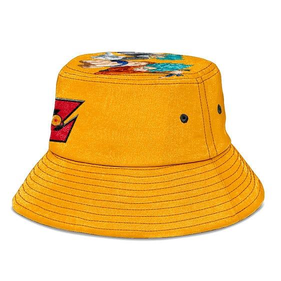 Dragon Ball Z Custom Logo Symbol Style Orange Bucket Hat