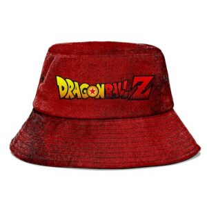 Dragon Ball Z Deep Dark Red Grunge and Powerful Bucket Hat
