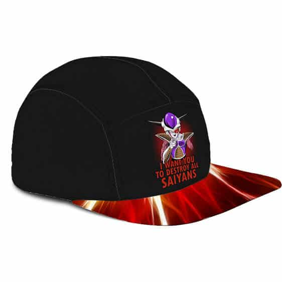 Dragon Ball Z Frieza American Recruitment Poster Parody Awesome 5 Panel Cap