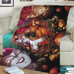 Dragon Ball Z Frieza Versus Kakarot SSG Fantastic Fleece Blanket