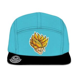Dragon Ball Z Future Trunks Capsule Corp Sky Blue Black Five Panel Cap