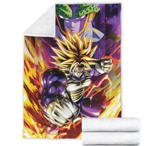 Dragon Ball Z Future Trunks Super Saiyan Armor Cell Dope Fleece Blanket