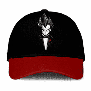 Dragon Ball Z Gentleman Vegeta Dope Black Red Trucker Hat