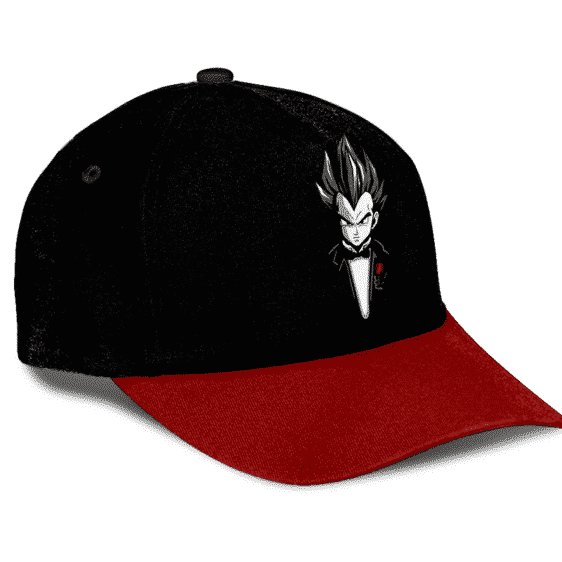 Dragon Ball Z Gentleman Vegeta Dope Black Red Trucker Hat