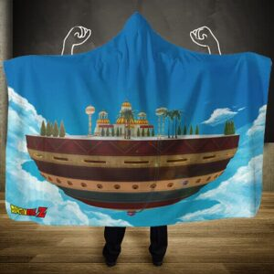 Dragon Ball Z God's Temple Look Out Korin Tower Hoodie Blanket