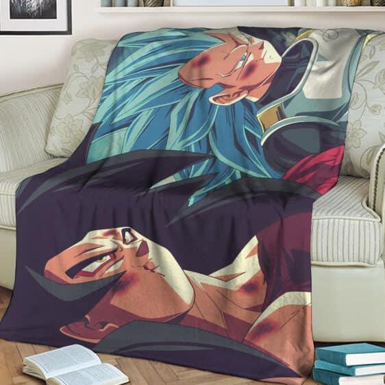 Dragon Ball Z Goku SSJ4 Vegeta Super Saiyan Blue Fan Art Blanket