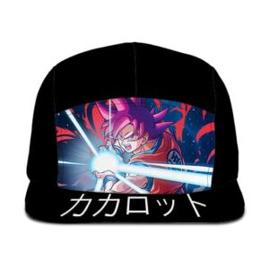 Dragon Ball Z Goku Super Saiyan God Black Camper Cap