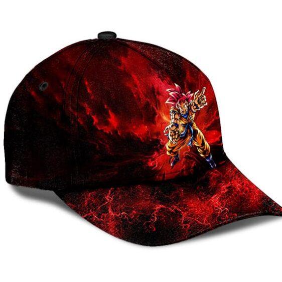 Dragon Ball Z Goku Super Saiyan God Explosive Red Baseball Cap