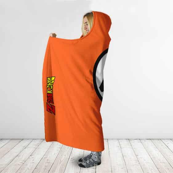 Dragon Ball Z Goku Wisdom Kanji Orange Awesome Hooded Blanket