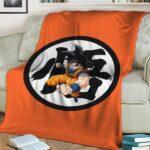 Dragon Ball Z Goku's Kanji Awesome Orange Blanket