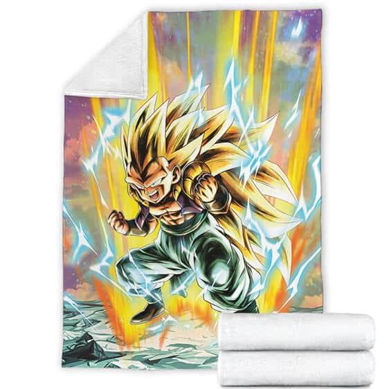 Dragon Ball Z Gotenks Super Saiyan 3 Dope Cozy Blanket