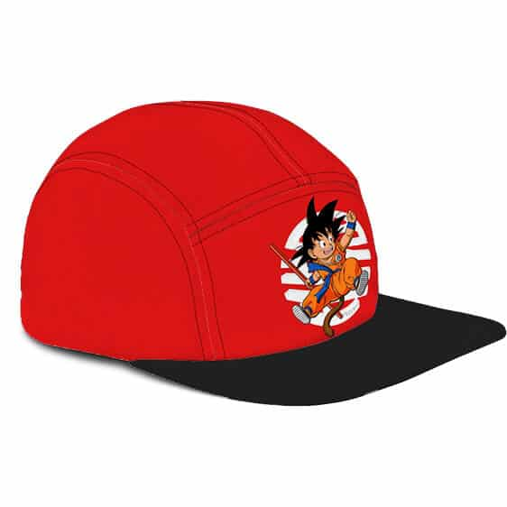 Dragon Ball Z Happy Kid Goku Wonderful Red Camper Hat
