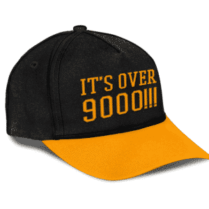 Dragon Ball Z Iconic Scene It's Over 9000 Dad Baseball Cap