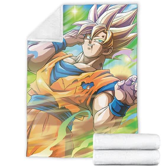 Dragon Ball Z Kakarot Super Saiyan 2 Colorful Blanket