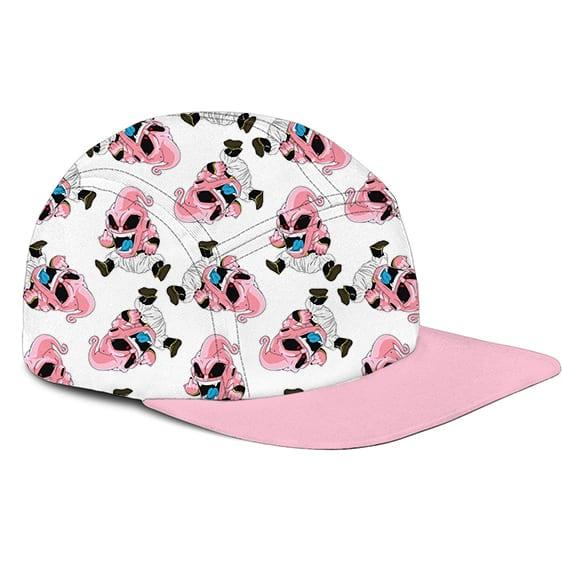 Dragon Ball Z Kid Buu Chibi Middle Finger White Pink Camper Hat