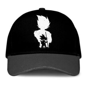 Dragon Ball Z Kid Goku Vegeta Silhouette Minimalist Black Trucker Hat