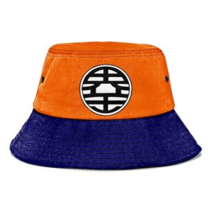 Dragon Ball Z King Kai Kanji Blue and Orange Cool Bucket Hat