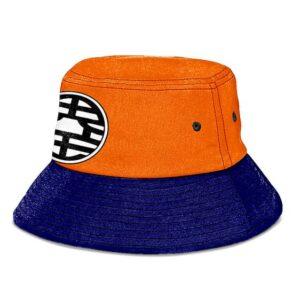 Dragon Ball Z King Kai Kanji Blue and Orange Cool Bucket Hat
