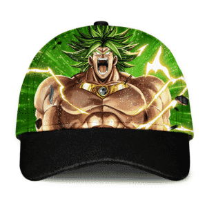 Dragon Ball Z Legendary Broly Charging Up Energizing Green Dad Cap