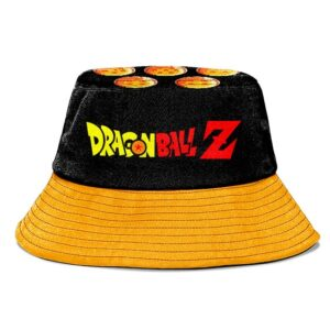 Dragon Ball Z Logo Classic Style Black & Orange Bucket Hat