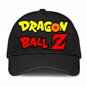 Dragon Ball Z Logo Minimalist Black Cool Baseball Cap
