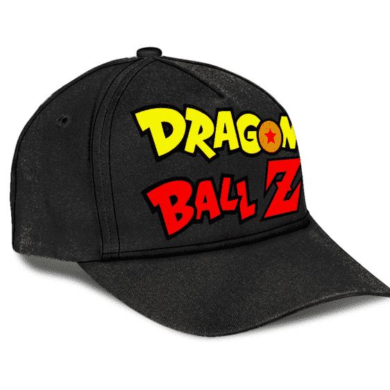 Dragon Ball Z Logo Minimalist Black Cool Baseball Cap