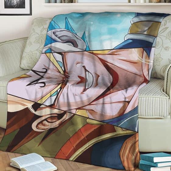 Dragon Ball Z Majin Vegeta Super Saiyan Blue Blanket