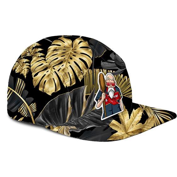 Dragon Ball Z Master Roshi Supreme Gold Design Dope Camper Cap