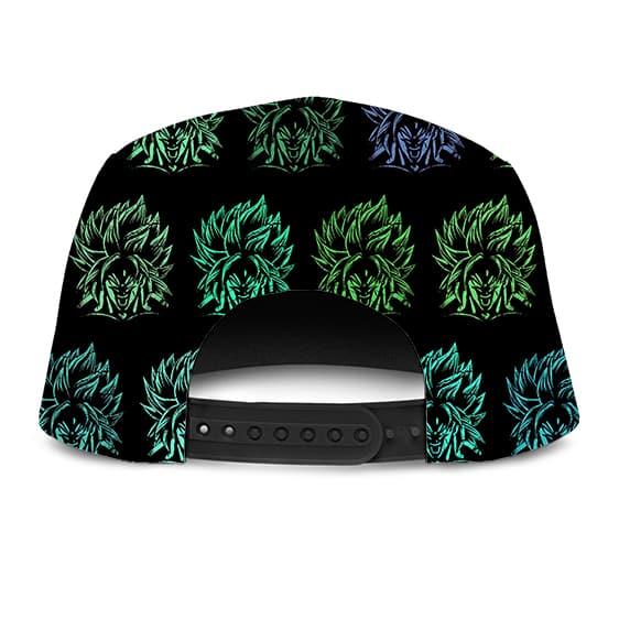Dragon Ball Z Neon Legendary Broly Pattern Fantastic Camper Hat