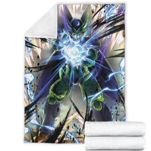 Dragon Ball Z Perfect Cell Charging Up Fantastic Throw Blanket