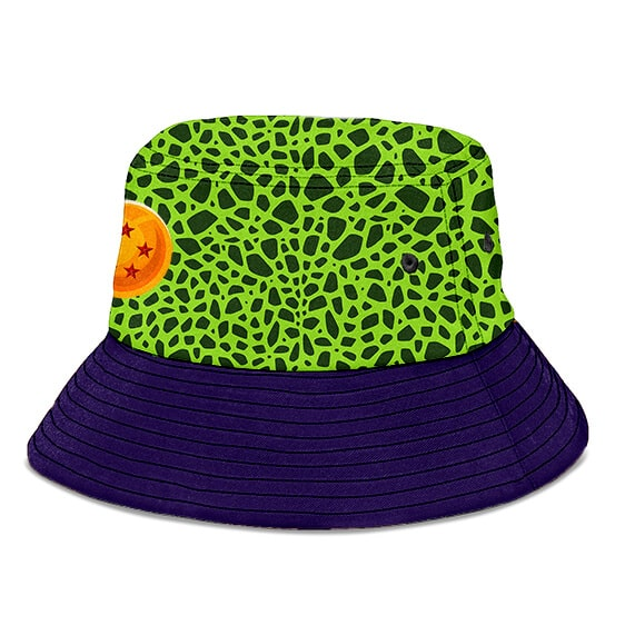 Dragon Ball Z Perfect Cell Pattern Cosplay Dope Bucket Hat