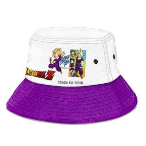 Dragon Ball Z SSJ 2 Gohan White Purple Powerful Bucket Hat