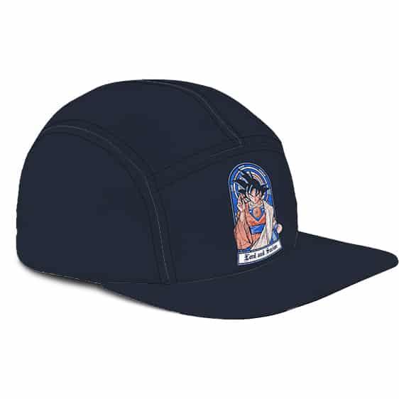Dragon Ball Z Saint Goku Holy Minimalist Blue 5 Panel Hat