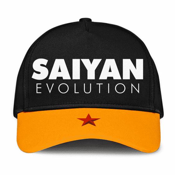 Dragon Ball Z Saiyan Evolution Statement Art Black Trucker Hat