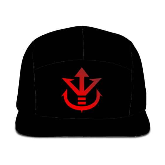 Dragon Ball Z Saiyan Royal Family Crest Cool Black 5 Panel Hat