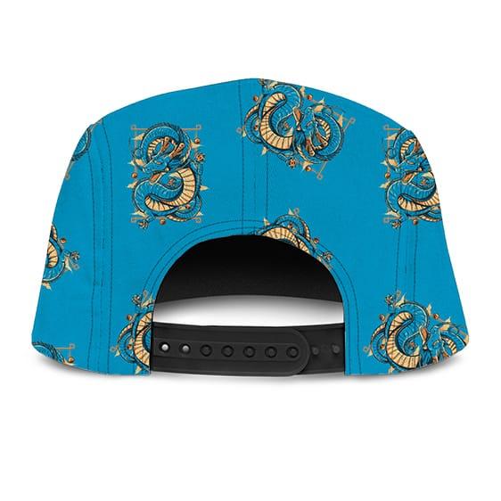 Dragon Ball Z Shenron Blue Awesome Pattern 5 Panel Hat