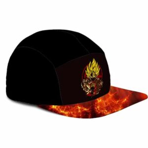 Dragon Ball Z Son Goku Awesome Fiery Fire 5 Panel Hat