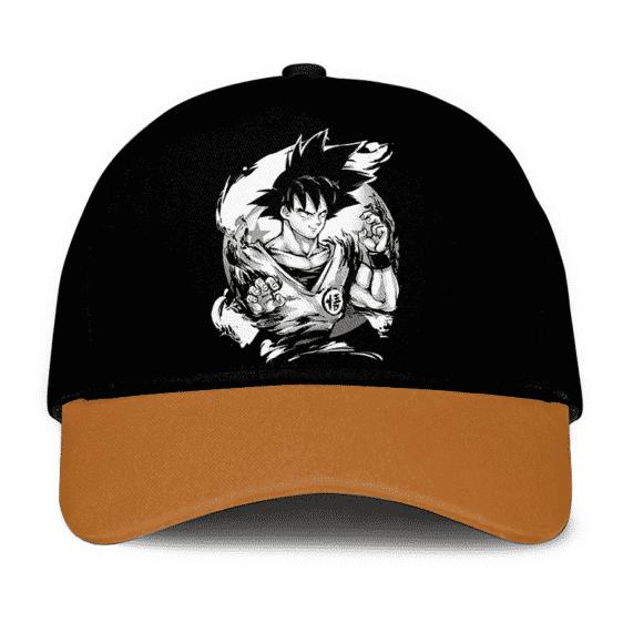 Dragon Ball Z Son Goku Base Form Dope Black Brown Baseball Cap