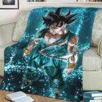 Dragon Ball Z Son Goku Blue Aura Powerful Cozy Blanket