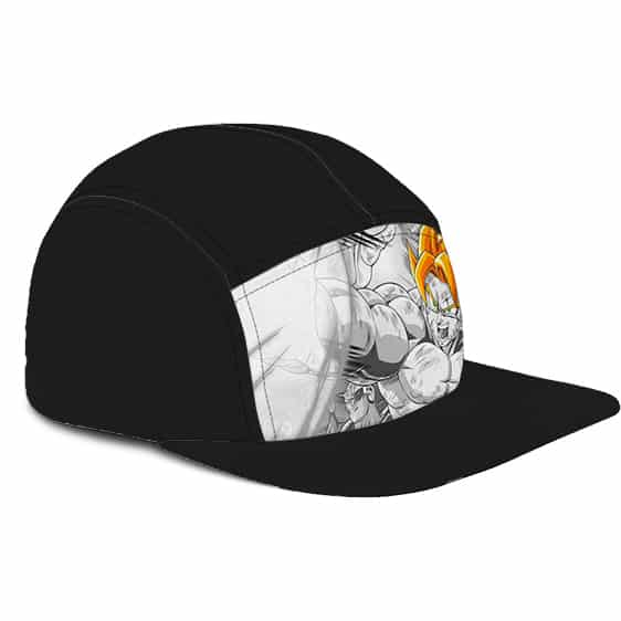 Dragon Ball Z Son Goku Gray Super Saiyan Cool Five Panel Cap