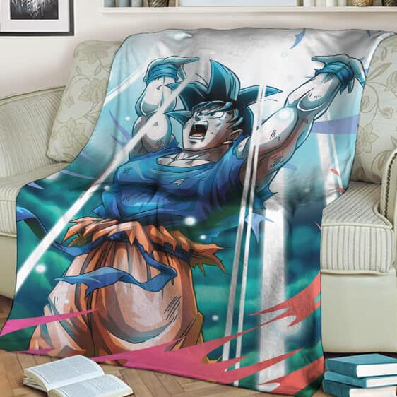 Dragon Ball Z Son Goku Spirit Ball Amazing Fleece Blanket