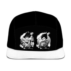 Dragon Ball Z Son Goku Vegeta Base Form Black White Camper Hat