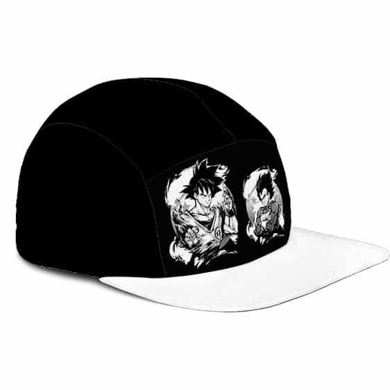 Dragon Ball Z Son Goku Vegeta Base Form Black White Camper Hat