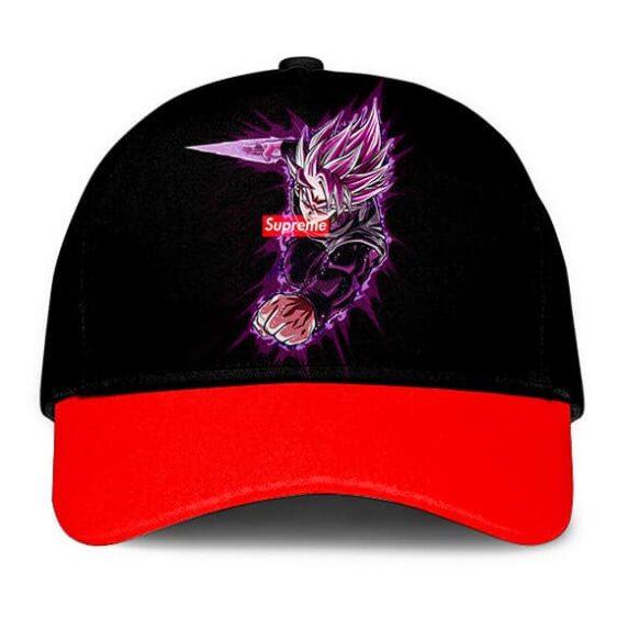 Dragon Ball Z Super Saiyan Rose Goku Black Supreme Black Dad Baseball Cap